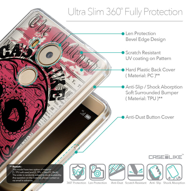 Details in English - CASEiLIKE Huawei Mate 8 back cover Art of Skull 2523