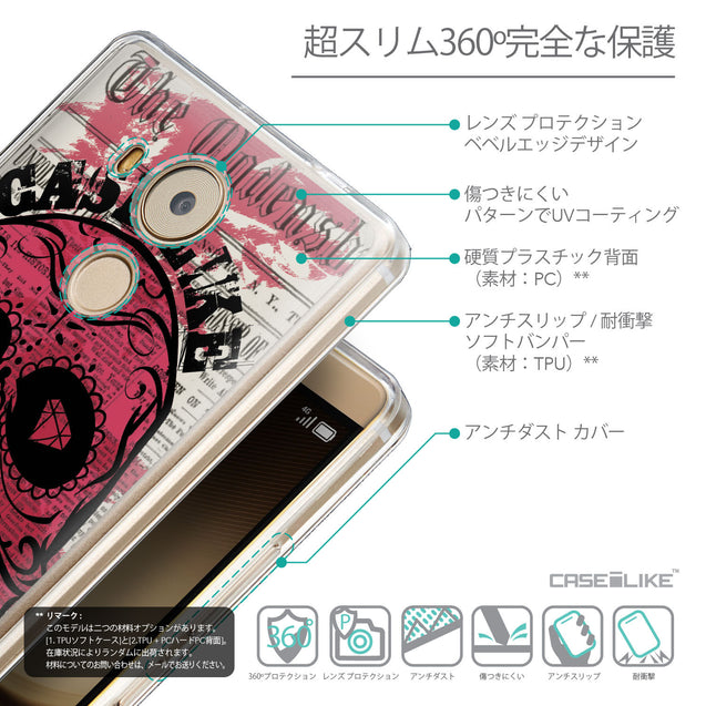 Details in Japanese - CASEiLIKE Huawei Mate 8 back cover Art of Skull 2523