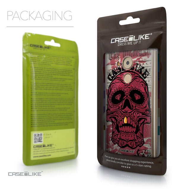 Packaging - CASEiLIKE Huawei Mate 8 back cover Art of Skull 2523