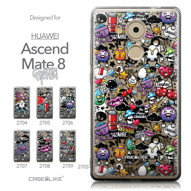 Collection - CASEiLIKE Huawei Mate 8 back cover Graffiti 2703
