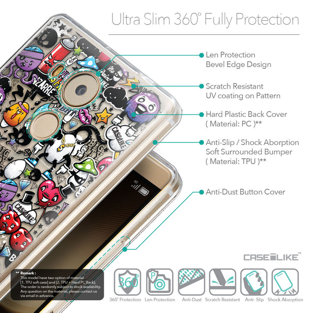 Details in English - CASEiLIKE Huawei Mate 8 back cover Graffiti 2703