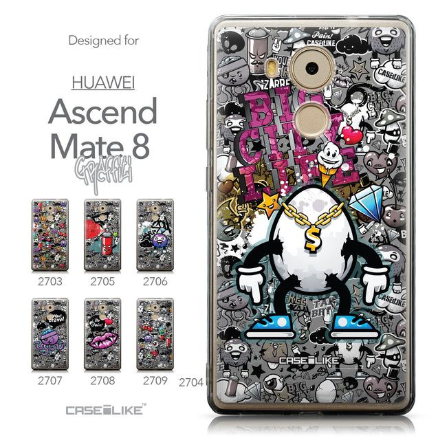 Collection - CASEiLIKE Huawei Mate 8 back cover Graffiti 2704