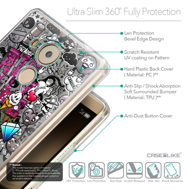 Details in English - CASEiLIKE Huawei Mate 8 back cover Graffiti 2704