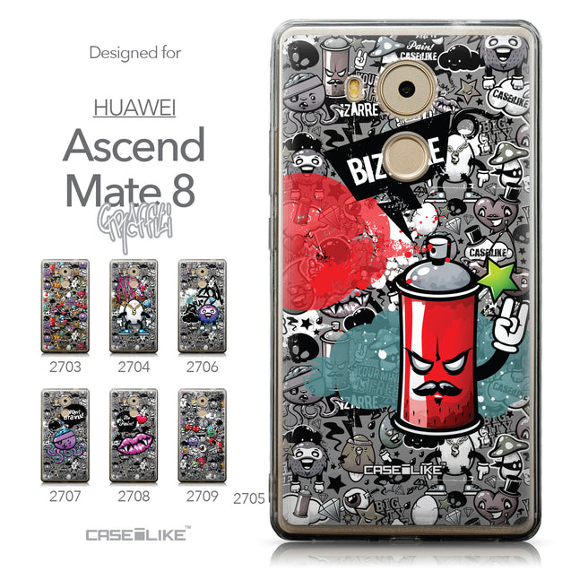 Collection - CASEiLIKE Huawei Mate 8 back cover Graffiti 2705