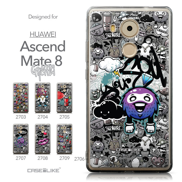 Collection - CASEiLIKE Huawei Mate 8 back cover Graffiti 2706