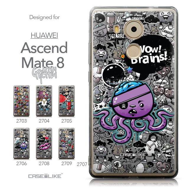 Collection - CASEiLIKE Huawei Mate 8 back cover Graffiti 2707