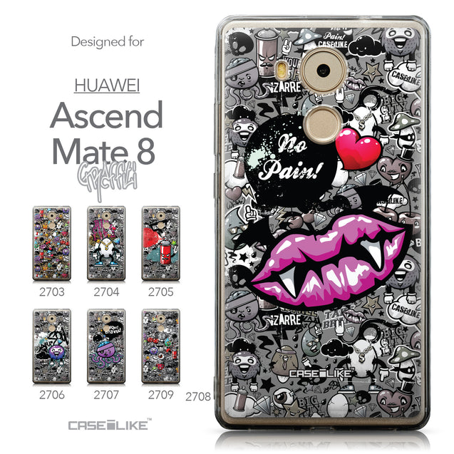 Collection - CASEiLIKE Huawei Mate 8 back cover Graffiti 2708