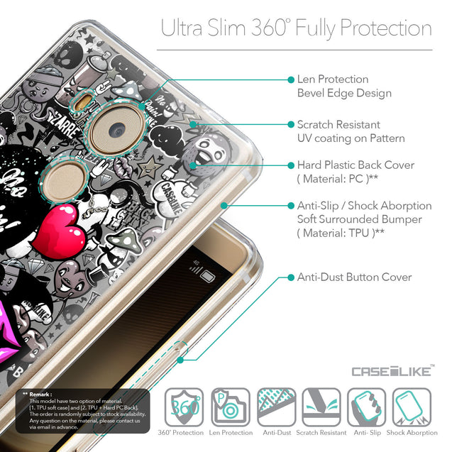 Details in English - CASEiLIKE Huawei Mate 8 back cover Graffiti 2708