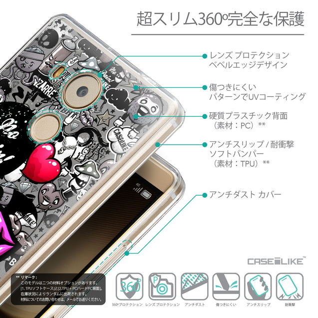 Details in Japanese - CASEiLIKE Huawei Mate 8 back cover Graffiti 2708