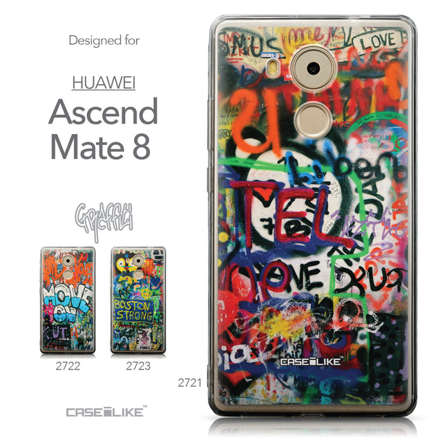 Collection - CASEiLIKE Huawei Mate 8 back cover Graffiti 2721