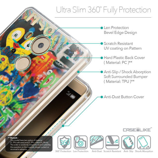 Details in English - CASEiLIKE Huawei Mate 8 back cover Graffiti 2723