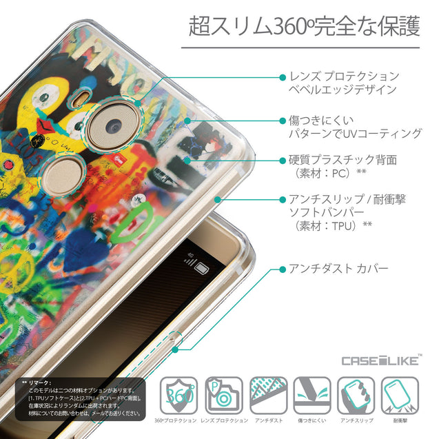 Details in Japanese - CASEiLIKE Huawei Mate 8 back cover Graffiti 2723