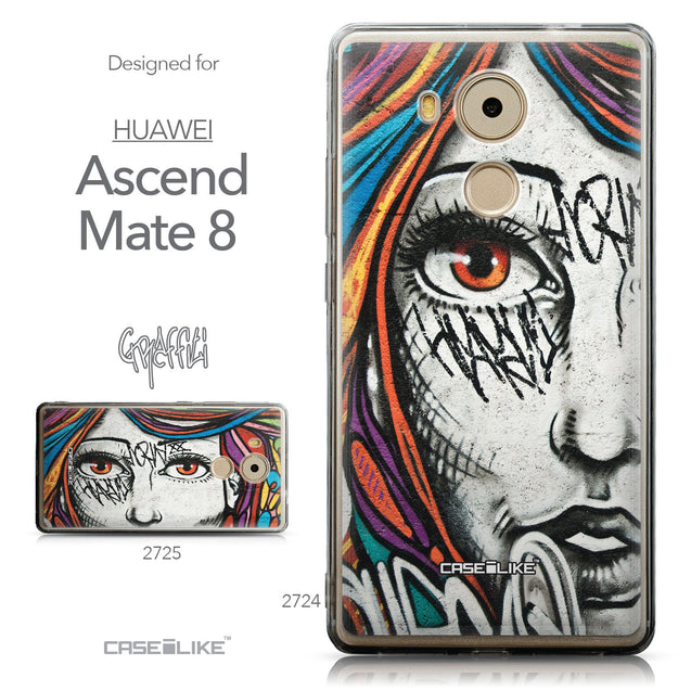 Collection - CASEiLIKE Huawei Mate 8 back cover Graffiti Girl 2724