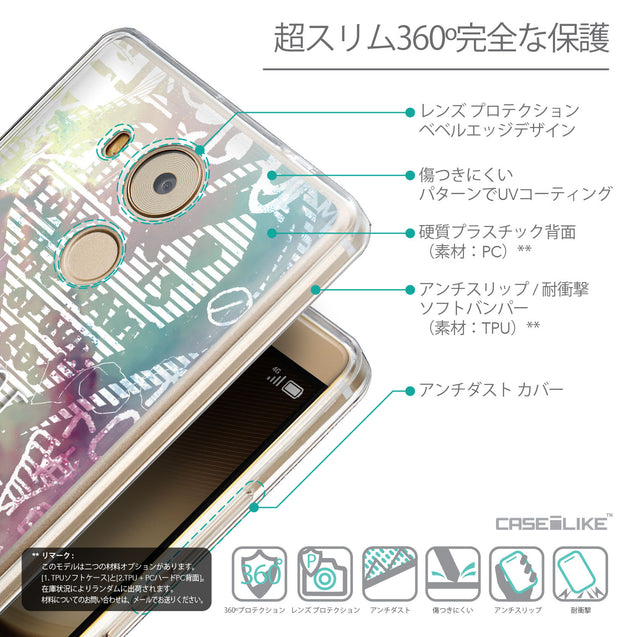 Details in Japanese - CASEiLIKE Huawei Mate 8 back cover Graffiti 2726