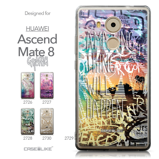 Collection - CASEiLIKE Huawei Mate 8 back cover Graffiti 2729