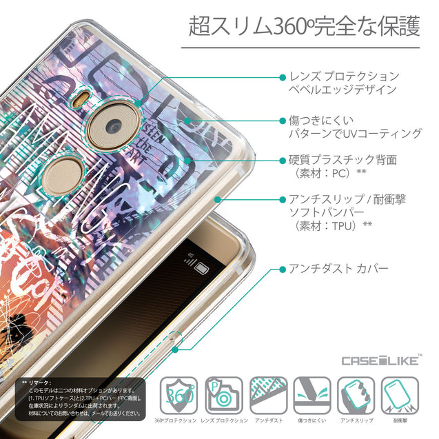Details in Japanese - CASEiLIKE Huawei Mate 8 back cover Graffiti 2729