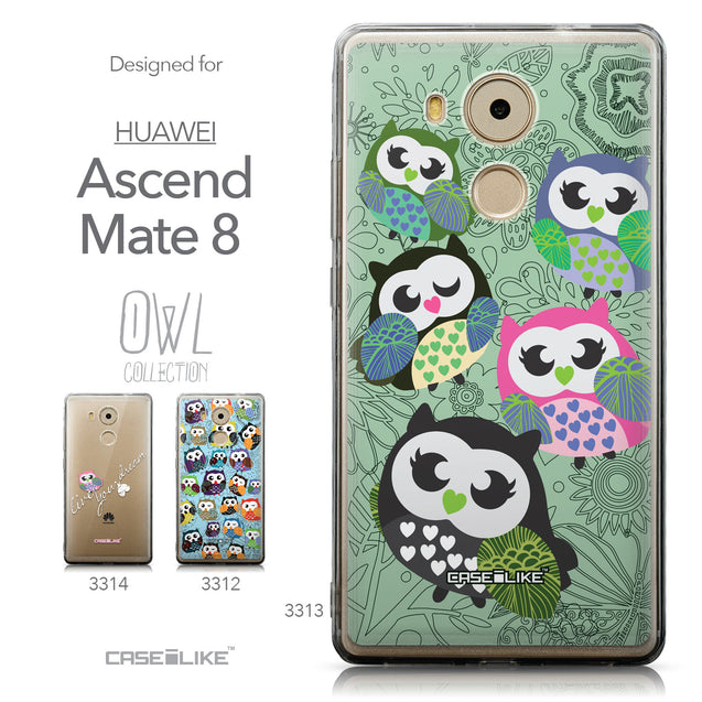 Collection - CASEiLIKE Huawei Mate 8 back cover Owl Graphic Design 3313