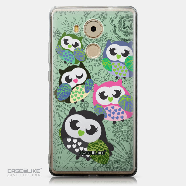 CASEiLIKE Huawei Mate 8 back cover Owl Graphic Design 3313