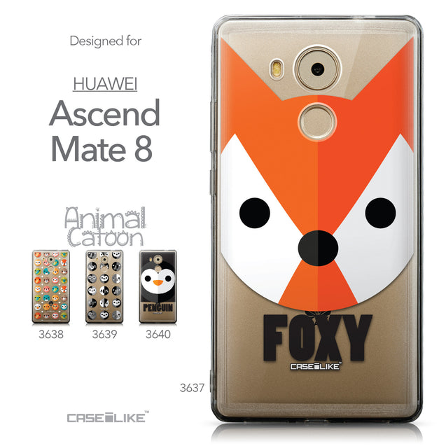 Collection - CASEiLIKE Huawei Mate 8 back cover Animal Cartoon 3637