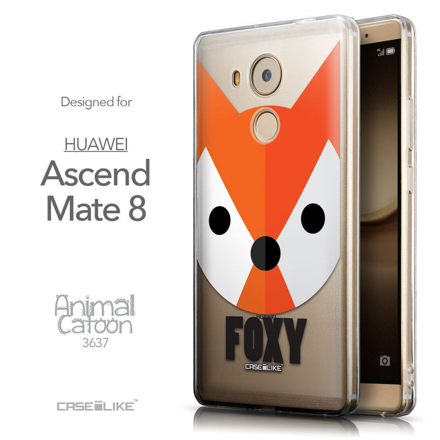 Front & Side View - CASEiLIKE Huawei Mate 8 back cover Animal Cartoon 3637
