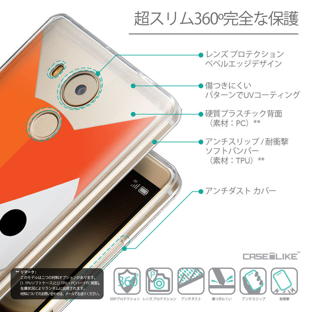 Details in Japanese - CASEiLIKE Huawei Mate 8 back cover Animal Cartoon 3637
