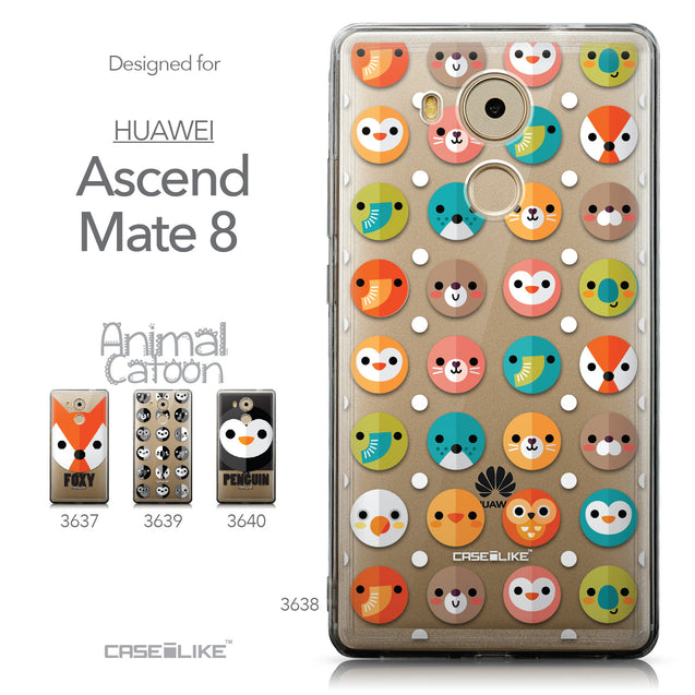 Collection - CASEiLIKE Huawei Mate 8 back cover Animal Cartoon 3638