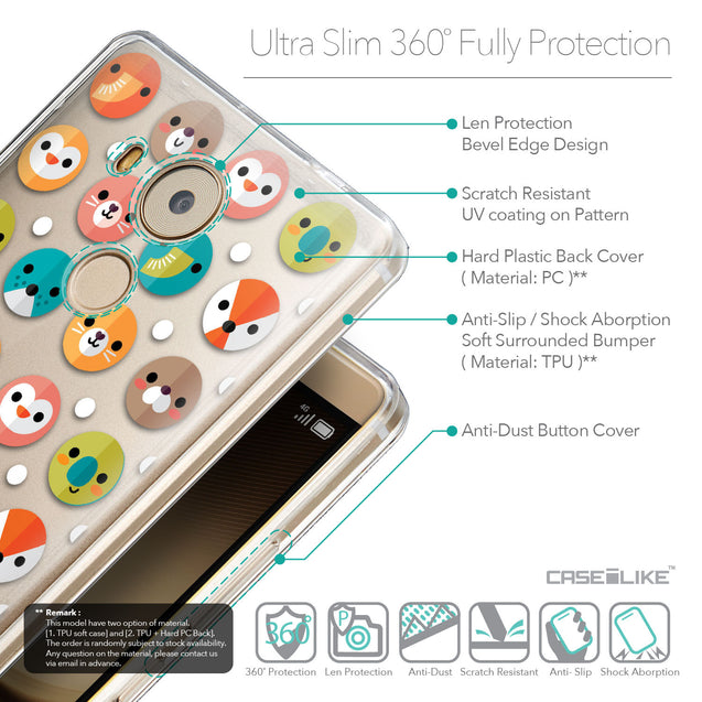 Details in English - CASEiLIKE Huawei Mate 8 back cover Animal Cartoon 3638