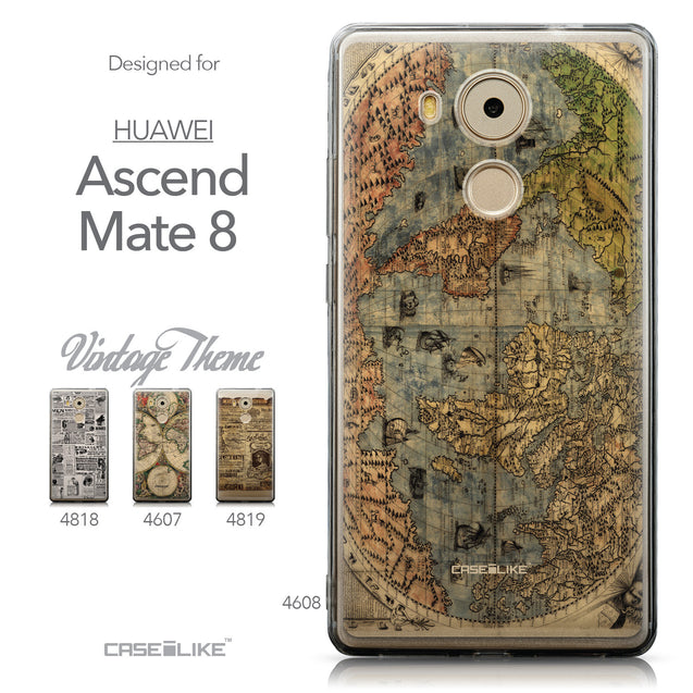 Collection - CASEiLIKE Huawei Mate 8 back cover World Map Vintage 4608