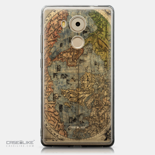 CASEiLIKE Huawei Mate 8 back cover World Map Vintage 4608