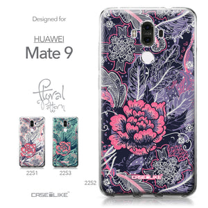 Huawei Mate 9 case Vintage Roses and Feathers Blue 2252 Collection | CASEiLIKE.com