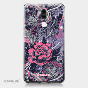 Huawei Mate 9 case Vintage Roses and Feathers Blue 2252 | CASEiLIKE.com