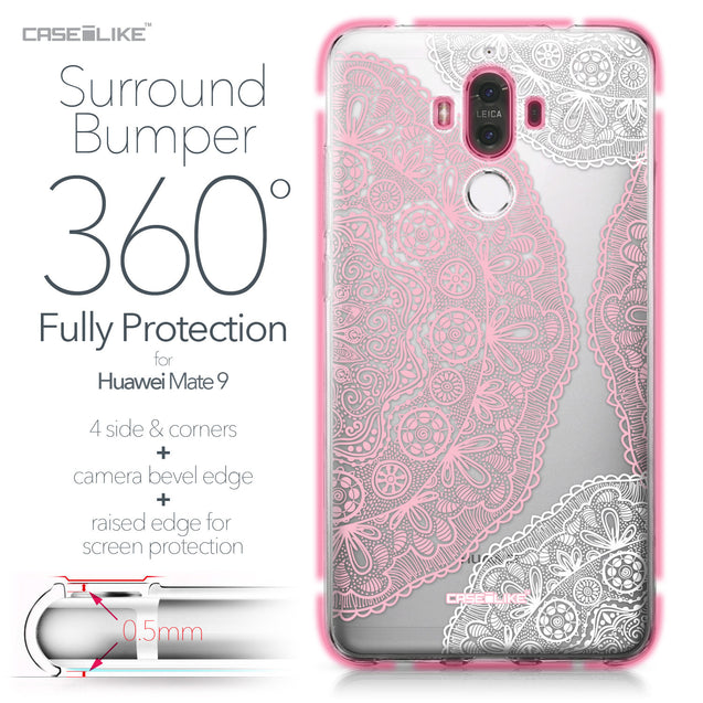 Huawei Mate 9 case Mandala Art 2305 Bumper Case Protection | CASEiLIKE.com