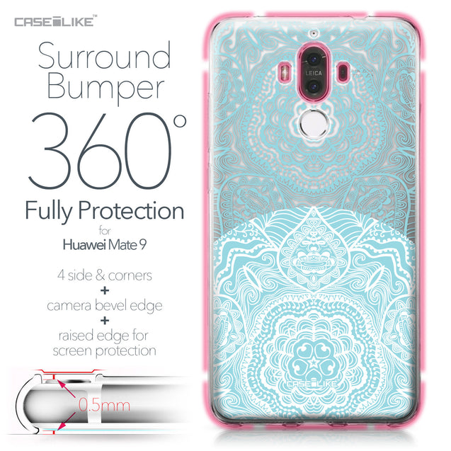 Huawei Mate 9 case Mandala Art 2306 Bumper Case Protection | CASEiLIKE.com