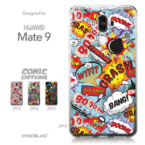 Huawei Mate 9 case Comic Captions Blue 2913 Collection | CASEiLIKE.com