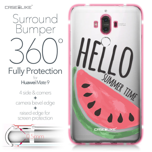 Huawei Mate 9 case Water Melon 4821 Bumper Case Protection | CASEiLIKE.com
