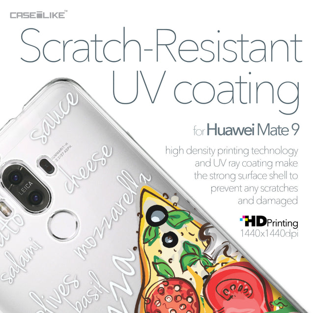 Huawei Mate 9 case Pizza 4822 with UV-Coating Scratch-Resistant Case | CASEiLIKE.com