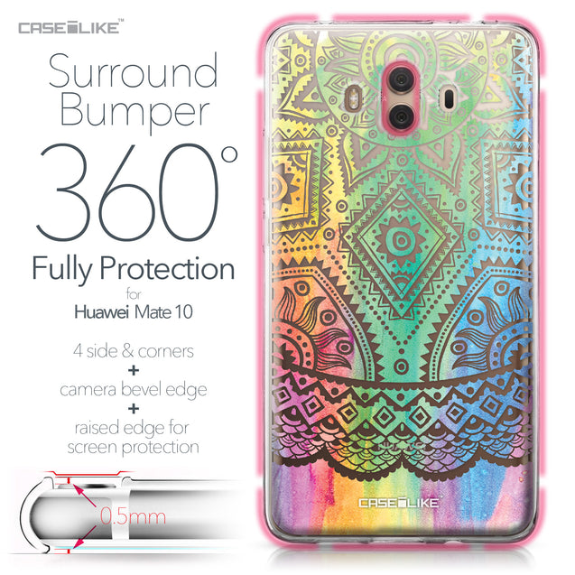 Huawei Mate 10 case Indian Line Art 2064 Bumper Case Protection | CASEiLIKE.com