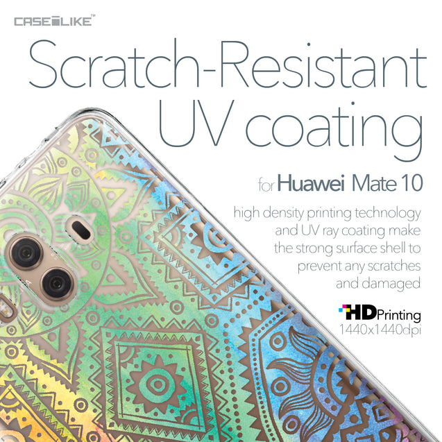 Huawei Mate 10 case Indian Line Art 2064 with UV-Coating Scratch-Resistant Case | CASEiLIKE.com