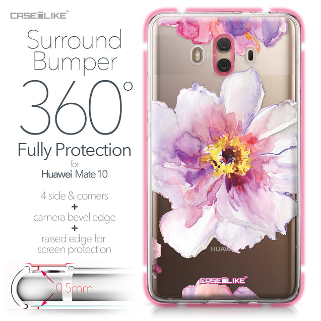 Huawei Mate 10 case Watercolor Floral 2231 Bumper Case Protection | CASEiLIKE.com