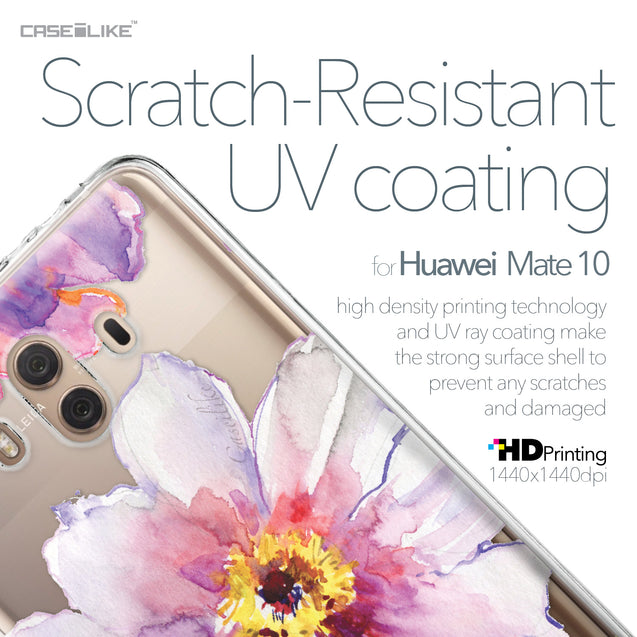 Huawei Mate 10 case Watercolor Floral 2231 with UV-Coating Scratch-Resistant Case | CASEiLIKE.com