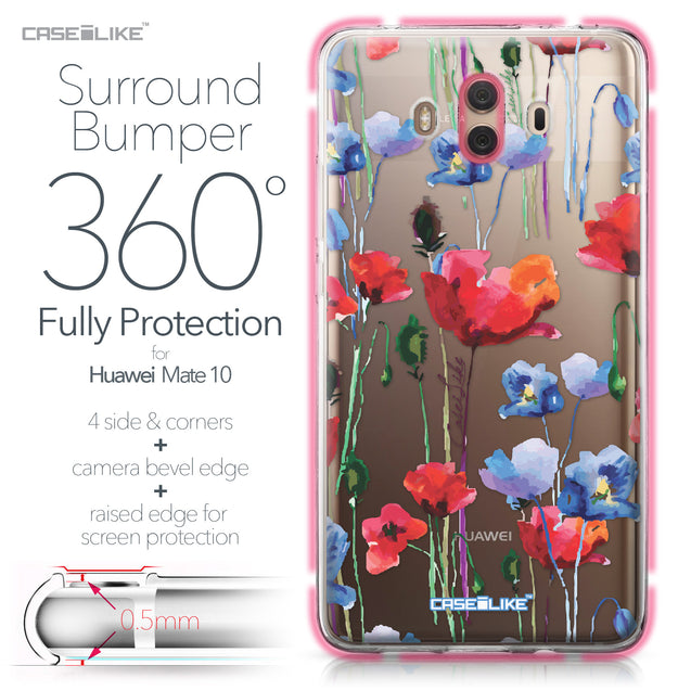 Huawei Mate 10 case Watercolor Floral 2234 Bumper Case Protection | CASEiLIKE.com