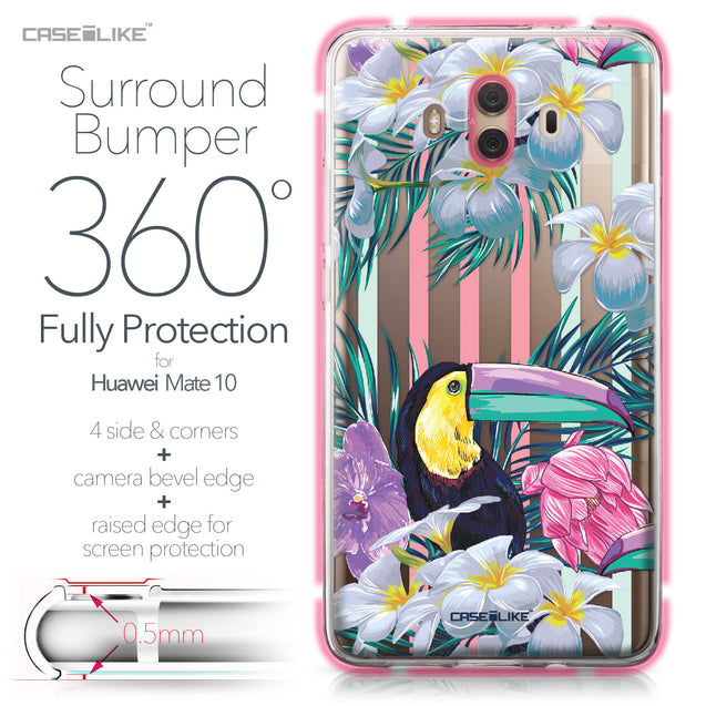 Huawei Mate 10 case Tropical Floral 2240 Bumper Case Protection | CASEiLIKE.com