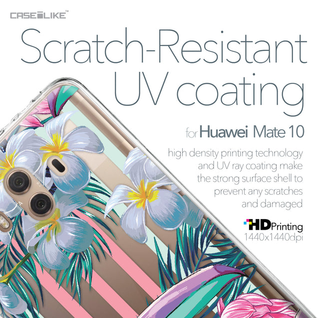 Huawei Mate 10 case Tropical Floral 2240 with UV-Coating Scratch-Resistant Case | CASEiLIKE.com