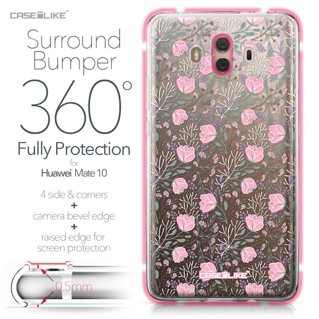 Huawei Mate 10 case Flowers Herbs 2246 Bumper Case Protection | CASEiLIKE.com