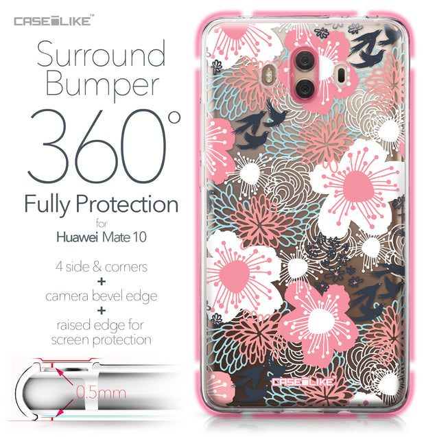 Huawei Mate 10 case Japanese Floral 2255 Bumper Case Protection | CASEiLIKE.com