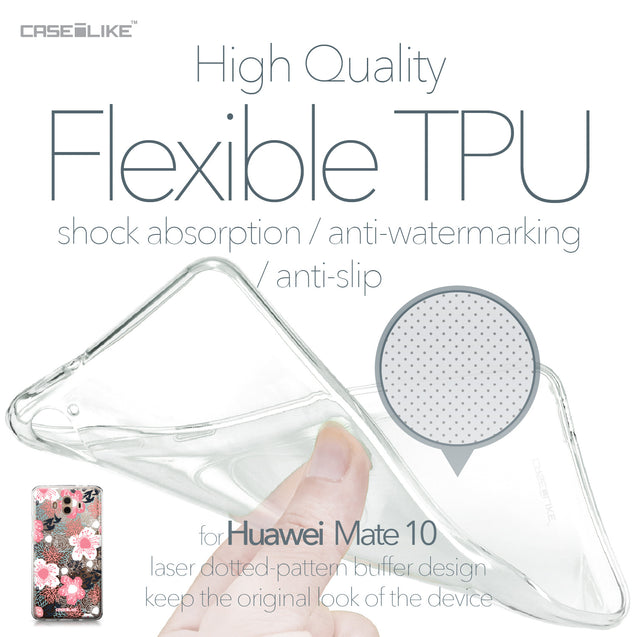 Huawei Mate 10 case Japanese Floral 2255 Soft Gel Silicone Case | CASEiLIKE.com