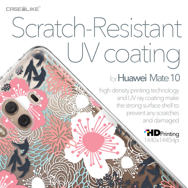 Huawei Mate 10 case Japanese Floral 2255 with UV-Coating Scratch-Resistant Case | CASEiLIKE.com
