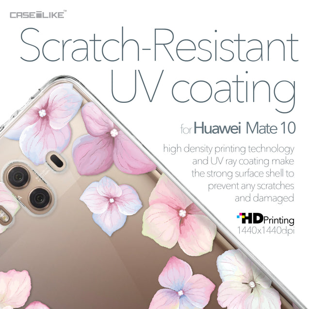 Huawei Mate 10 case Hydrangea 2257 with UV-Coating Scratch-Resistant Case | CASEiLIKE.com