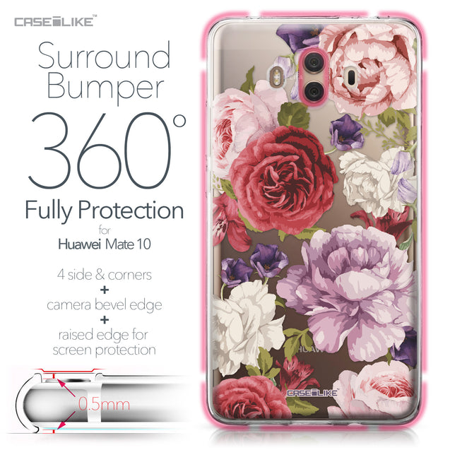Huawei Mate 10 case Mixed Roses 2259 Bumper Case Protection | CASEiLIKE.com