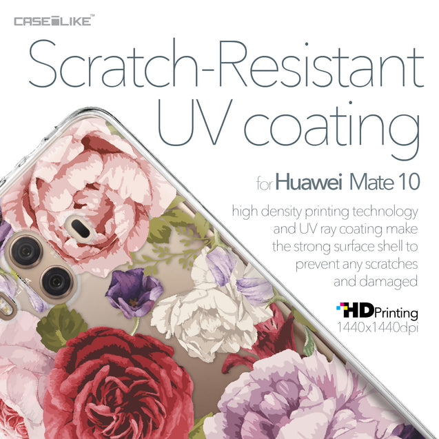 Huawei Mate 10 case Mixed Roses 2259 with UV-Coating Scratch-Resistant Case | CASEiLIKE.com